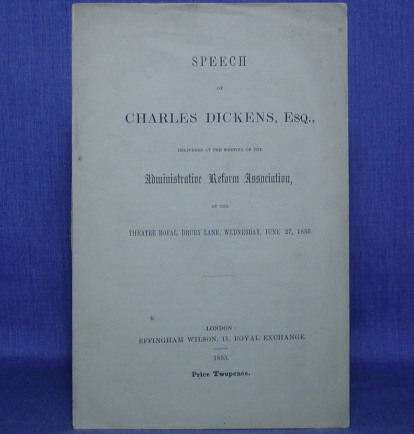 SPEECH delivered at the Meeting of the ADMINISTRATIVE REFORM ASSOCIATION, Charles Dickens.