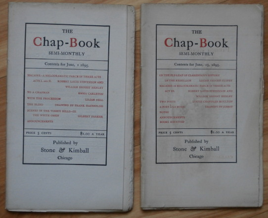 MACAIRE in Stone & Kimball's Chap-Books. Robert Louis Stevenson, William Ernest Henley.