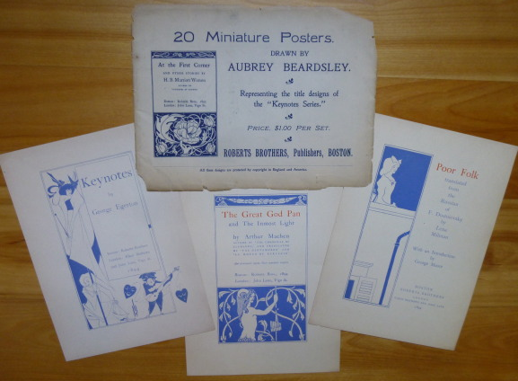 "20 MINIATURE POSTERS. Representing the title designs of the ""Keynotes Series."" Aubrey Beardsley."