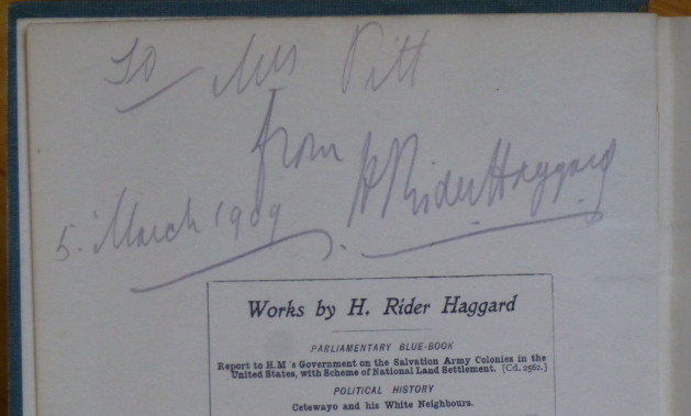 THE YELLOW GOD. An Idol of Africa. [inscribed by Haggard]. H. Rider Haggard.