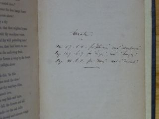 POEMS [inscribed by Meredith].