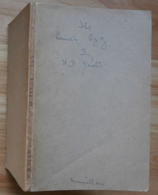 THE HERNE'S EGG [publisher's proof copy]. W. B. Yeats