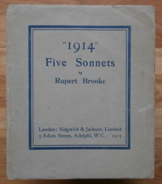 """1914."" Five Sonnets. Rupert Brooke."