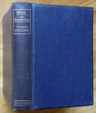 WEIR OF HERMISTON. Robert Louis Stevenson.