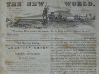 """AMERICAN NOTES for General Circulation. """"The New World."""""""