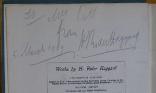 THE YELLOW GOD. An Idol of Africa. [inscribed by Haggard]. H. Rider Haggard