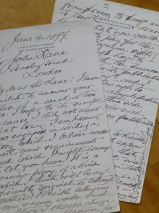 "Autograph Letter Signed, to ""My dear Mr [John] Lane."""