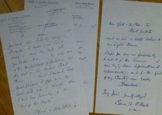 "Two Autograph Letters Signed, to ""Dear Miss Dodge"" Edward E. Hale"