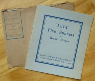 """1914."" Five Sonnets [with original envelope]. Rupert Brooke"