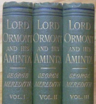 LORD ORMONT AND HIS AMINTA: A Novel. In Three Volumes.